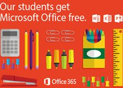 Our students get Microsoft Office free