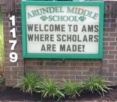 Arundel Middle School - Welcome to AMS Where Scholars Are Made!