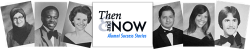 Then and Now Alumni Success Stories, six AACPS yearbook photos from the past four decades