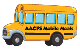 AACPS Mobile Meals school bus